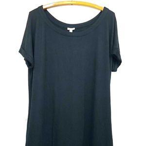SOMA Tunic Dress Soft Stretch Boat Neck Pockets 2X